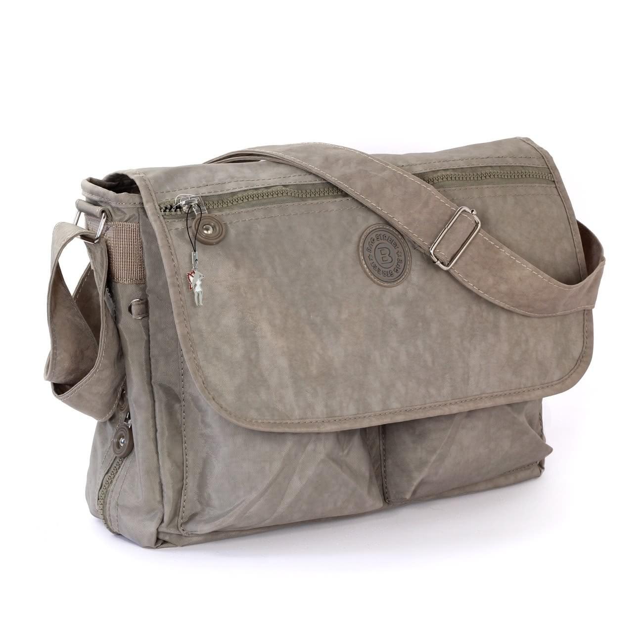 Schultertasche Nylon stone grau Cross-Body Umhängetasche Bag Street OTJ203L