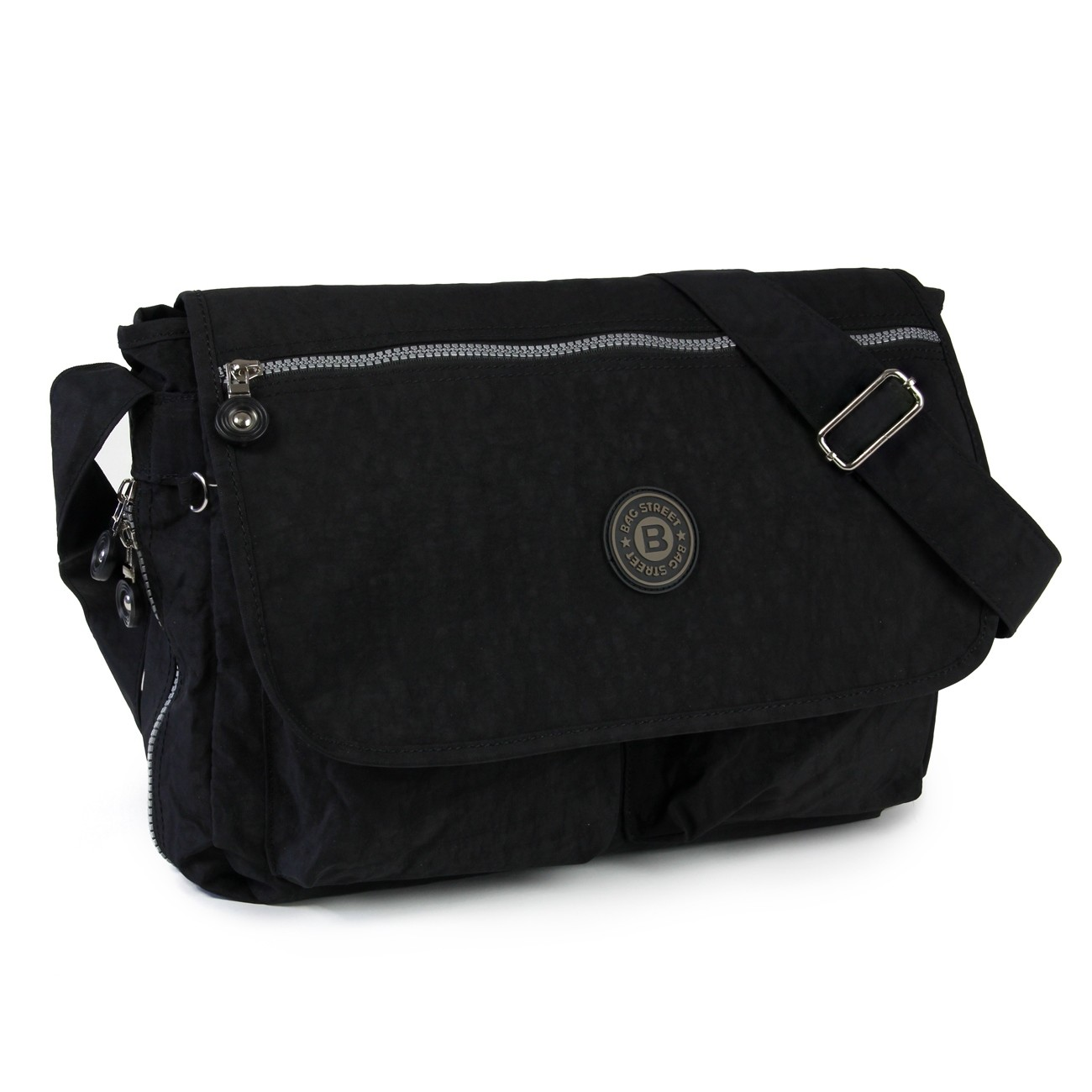 Schultertasche Nylon schwarz Cross-Body Umhängetasche Bag Street OTJ203S