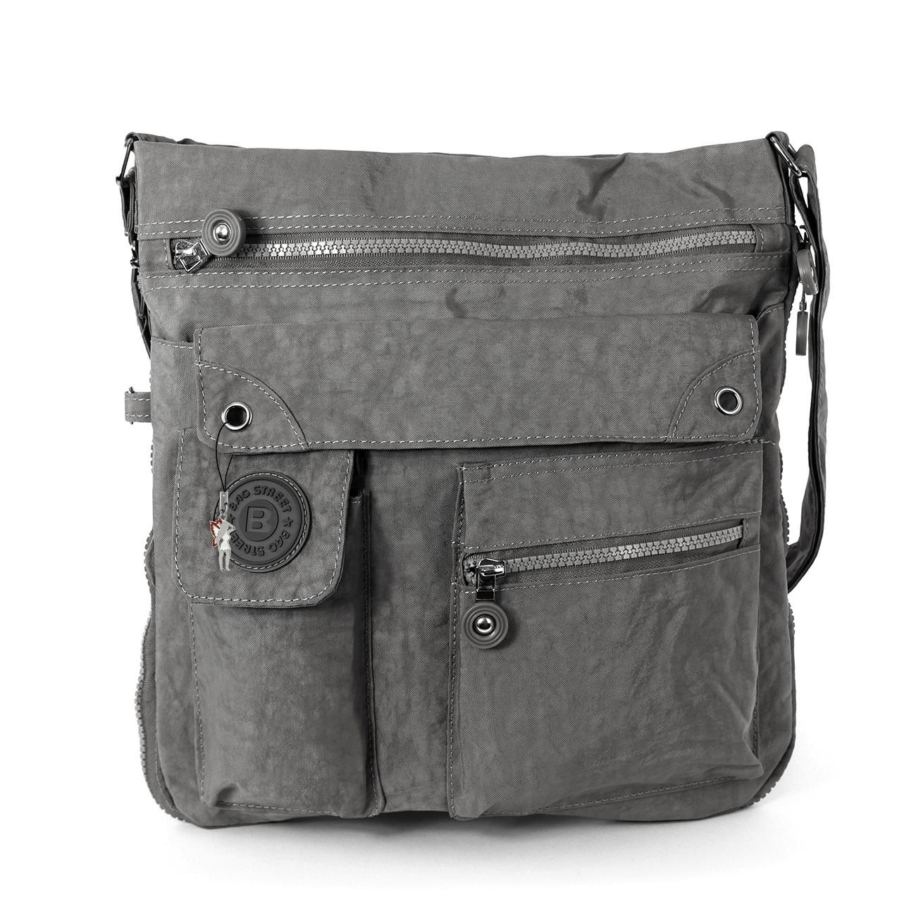 Umhängetasche Nylon grau Cross-Body Schultertasche Bag Street OTJ206K