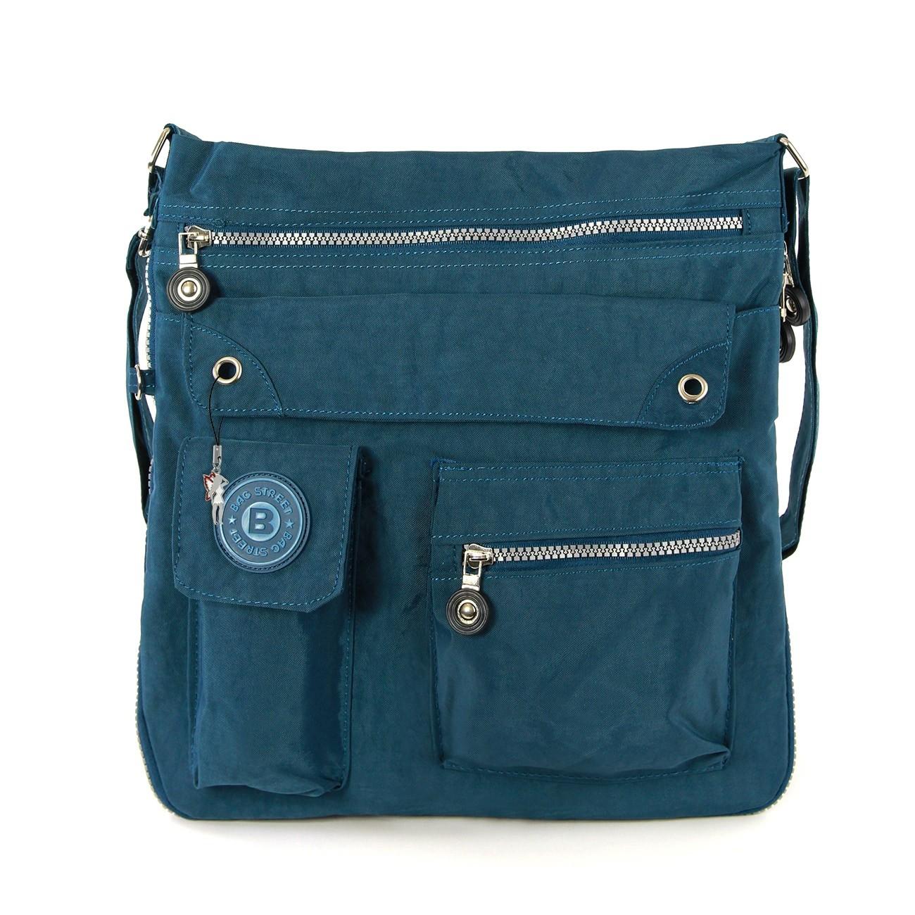 Umhängetasche Nylon blau Cross-Body Schultertasche Bag Street OTJ206T