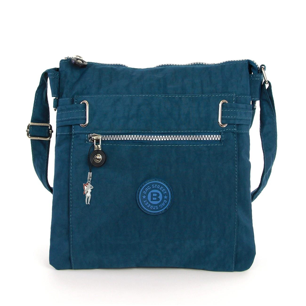 Damen Umhängetasche blau Nylon Schultertasche Bag Street Handtasche OTJ207T