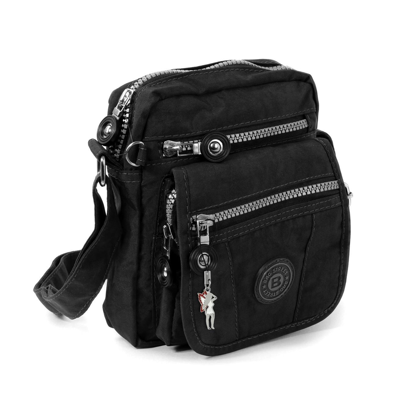 Umhängetasche Nylon schwarz Crossover Schultertasche Bag Street OTJ215S