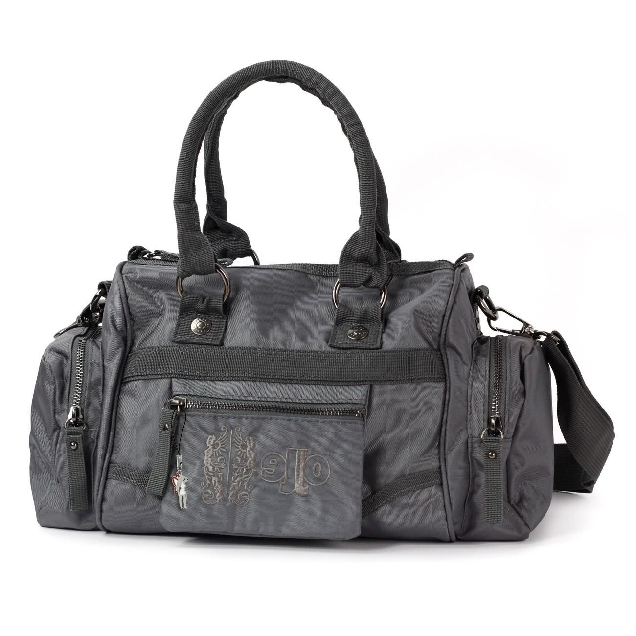 Jennifer Jones Schultertasche Nylon grau Fashion Henkeltasche Handtasche OTJ216K