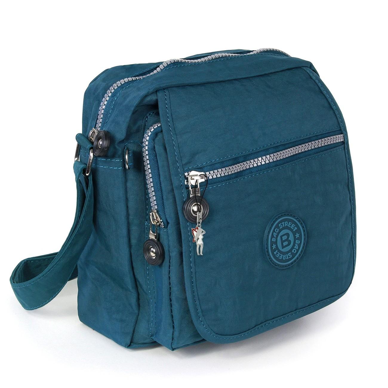 Umhängetasche Nylon blau Schultertasche Crossbody Bag Street OTJ218B