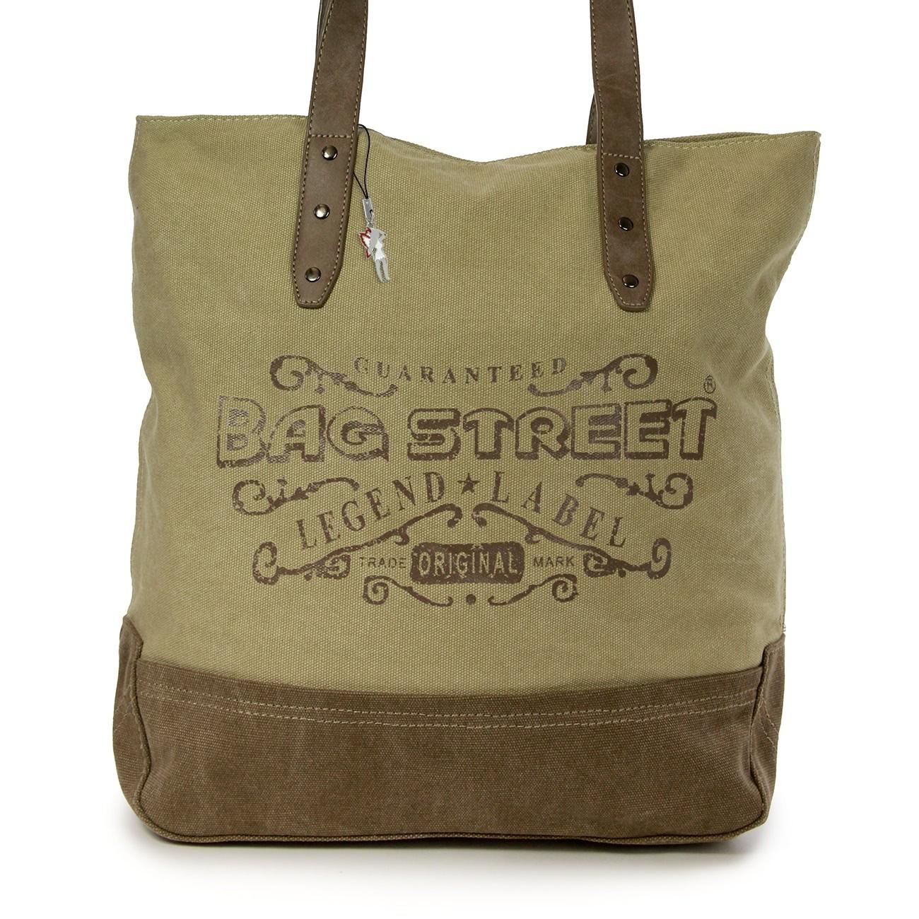 Beuteltasche Canvas naturbraun Hobo Bag Schultertasche Bag Street OTJ219C