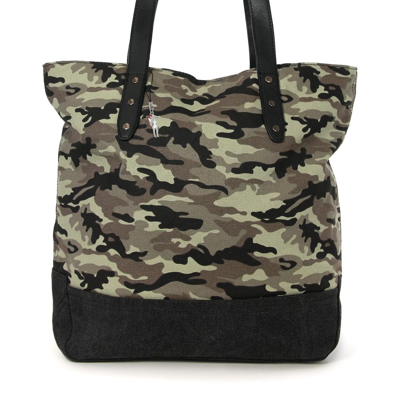 Beuteltasche Canvas armygrün Hobo Bag Schultertasche Bag Street OTJ219G
