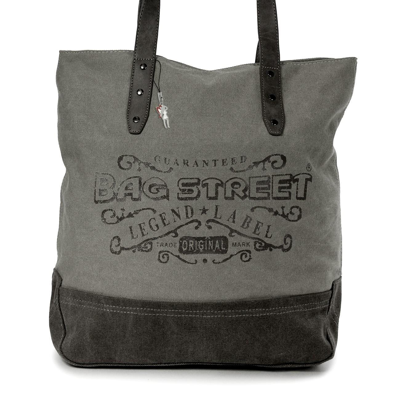 Beuteltasche Canvas grau Hobo Bag Schultertasche Bag Street OTJ219K