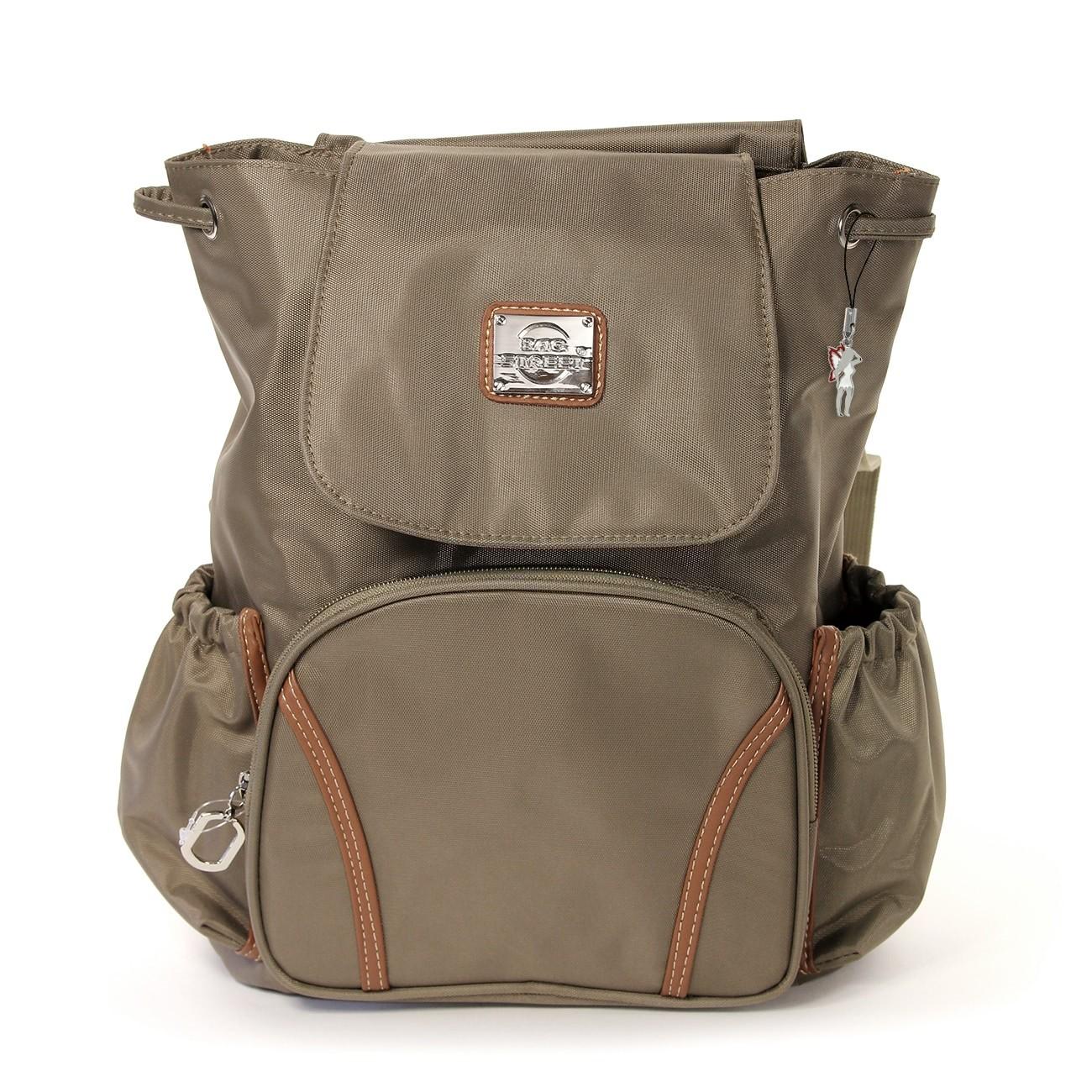 Rucksacktasche Nylon braun Damen Rucksack, Handtasche Bag Street OTJ223C