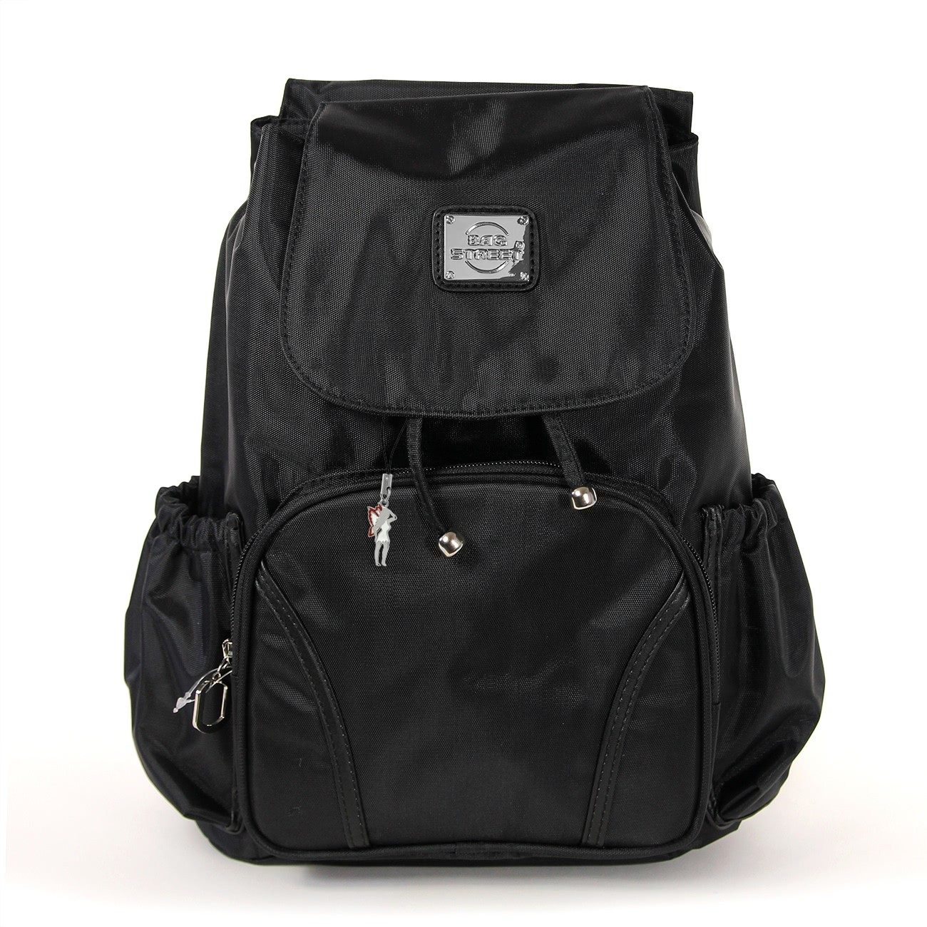 Rucksacktasche Nylon schwarz Damen Rucksack, Handtasche Bag Street OTJ223S