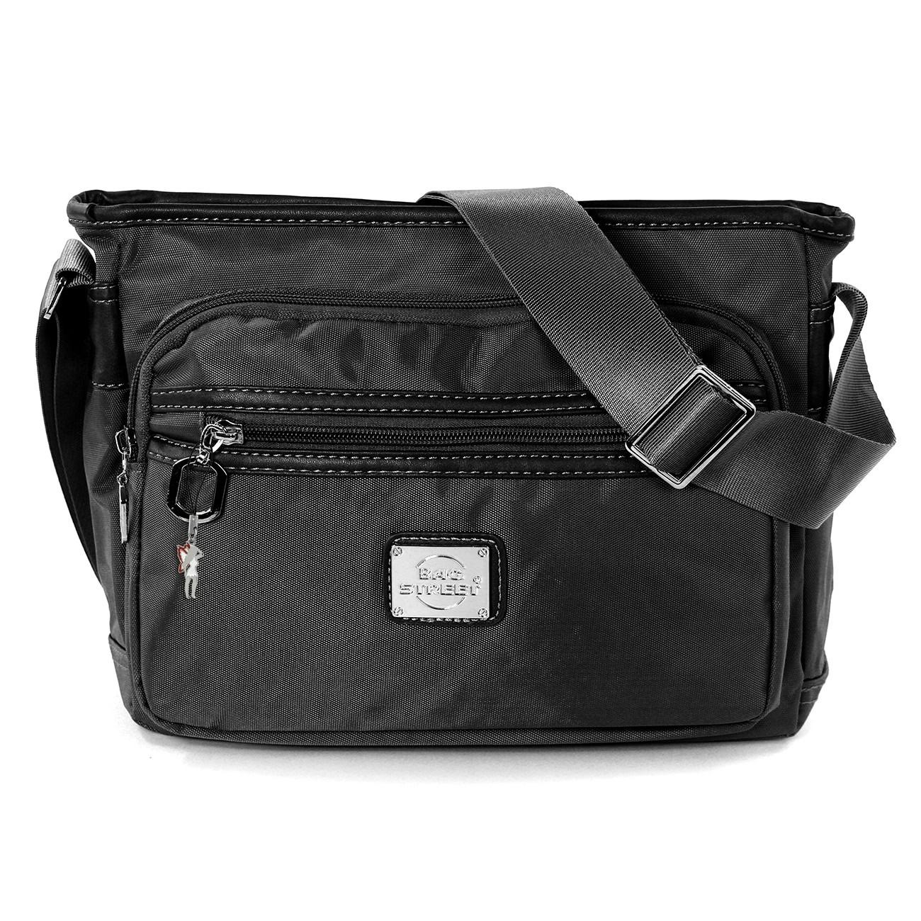 Umhängetasche, Schultertasche Nylon schwarz Damentasche Bag Street OTJ225S