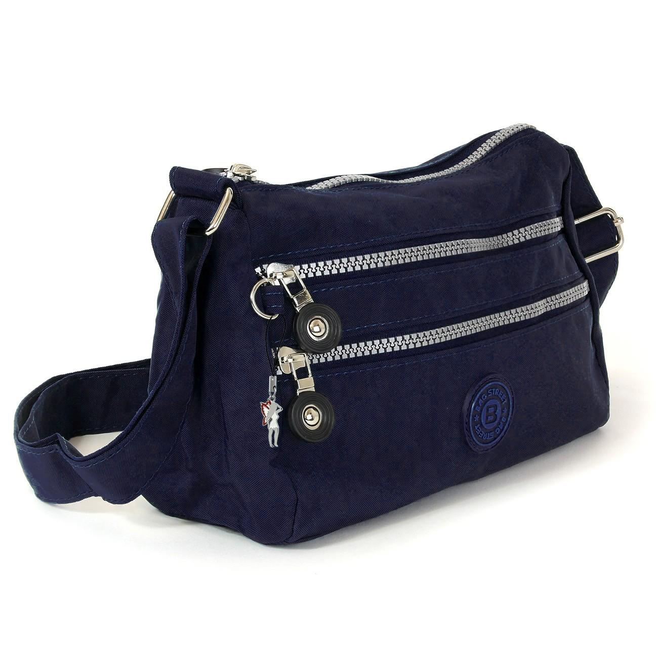 Umhängetasche Nylon blau Sportliche Damen Handtasche Bag Street OTJ229B