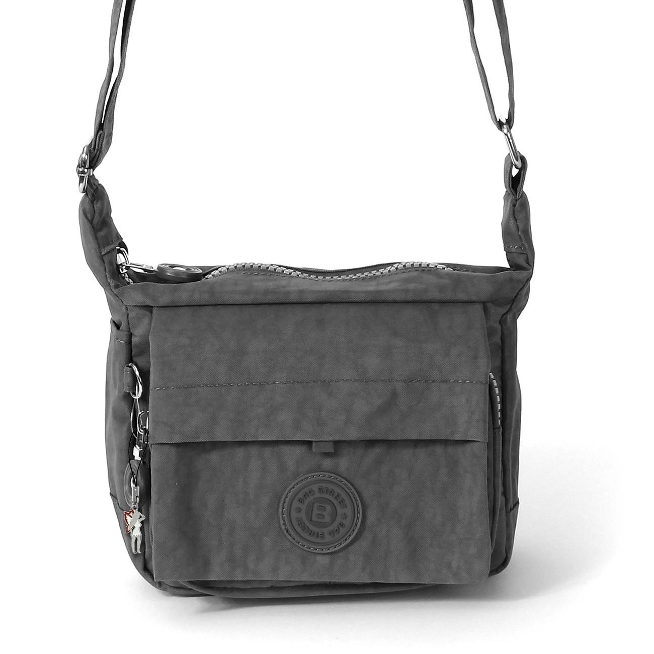handtasche abendtasche nylon grau damen crossover tasche. Black Bedroom Furniture Sets. Home Design Ideas