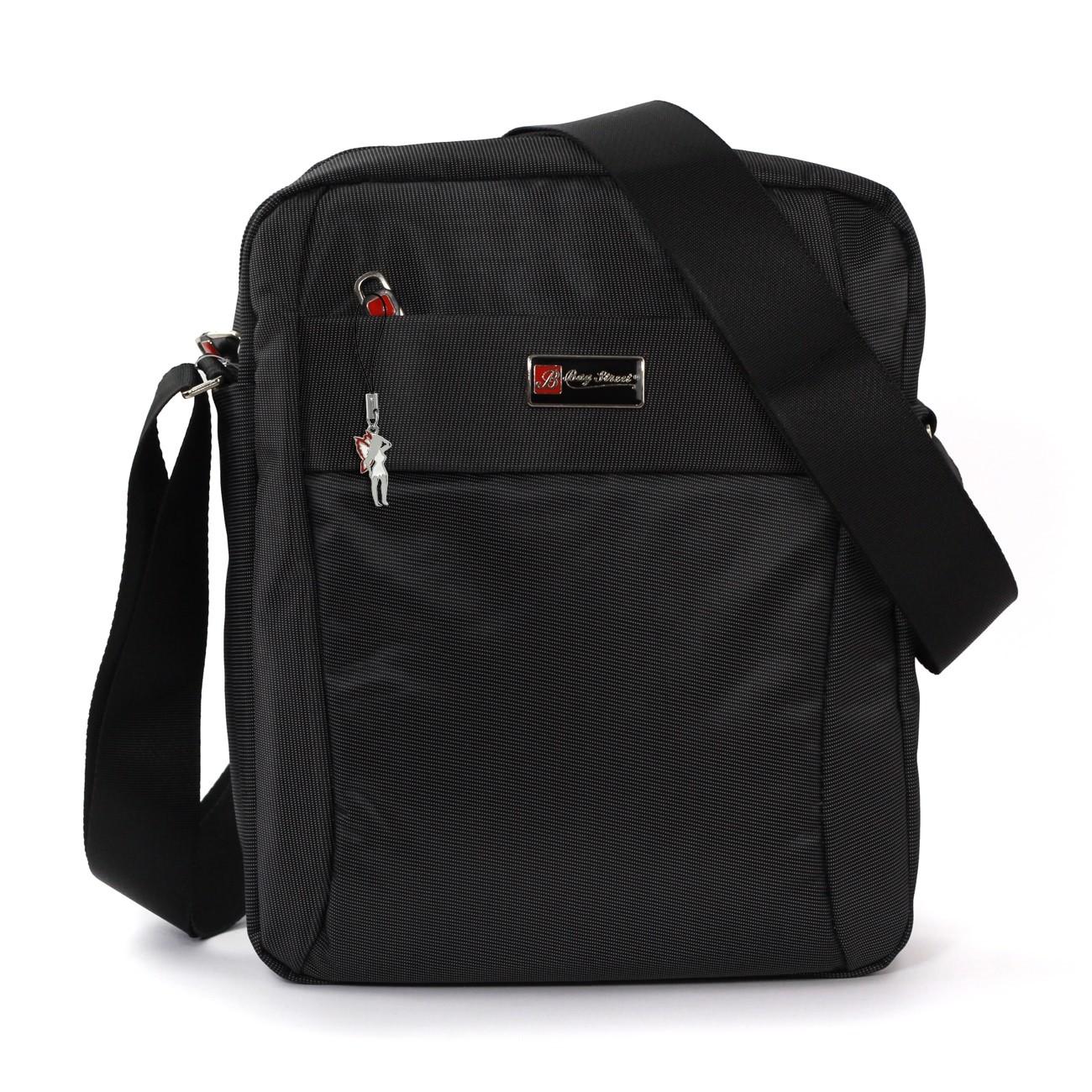 Bag Street Umhängetasche Polyester schwarz Crossover Schultertasche OTJ252S