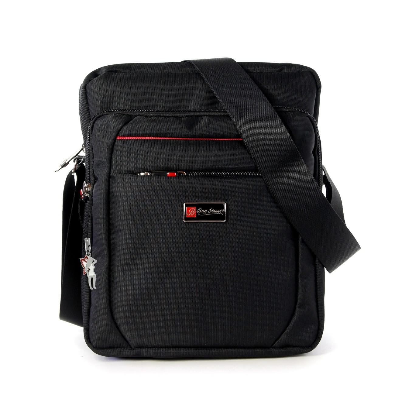 Umhängetasche Polyester schwarz Crossbody Schultertasche Bag Street OTJ254S