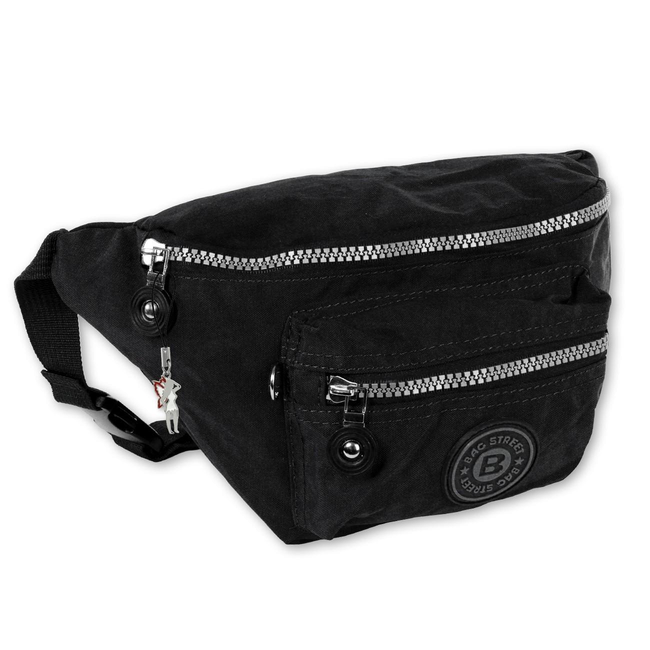 Gürteltasche Nylon schwarz Hüfttasche Bauchtasche Bag Street OTJ506S