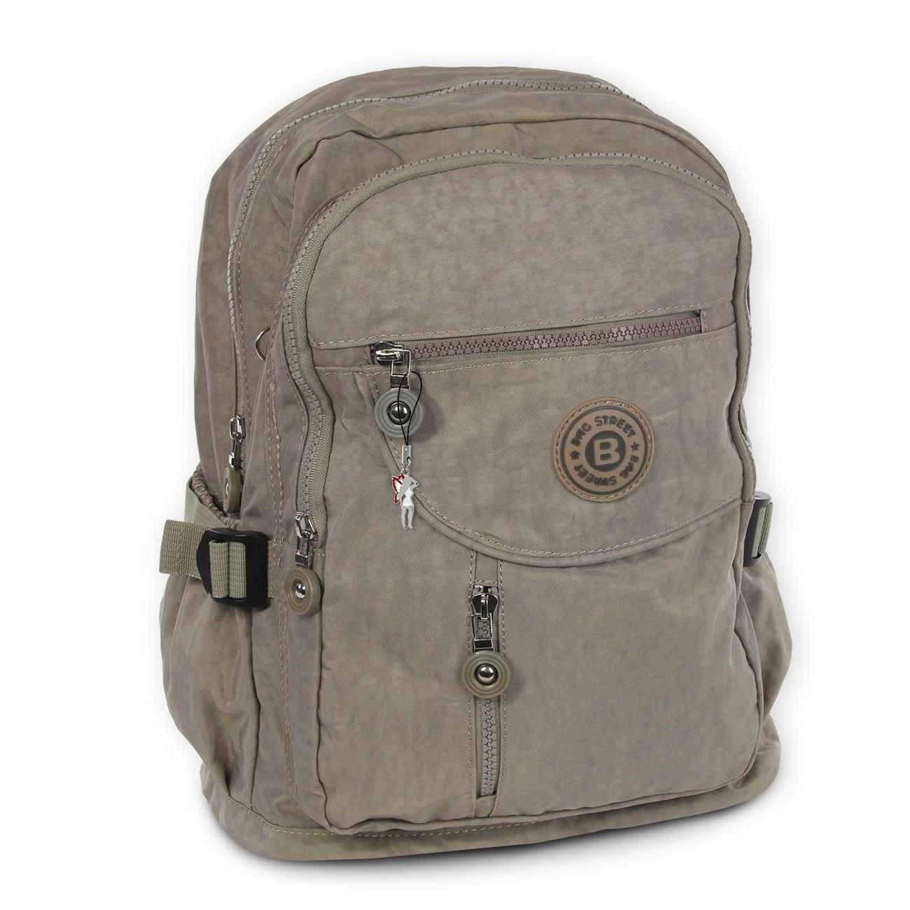 Rucksack, Handtasche Nylon stone, braun Damen Cityrucksack Bag Street OTJ604L