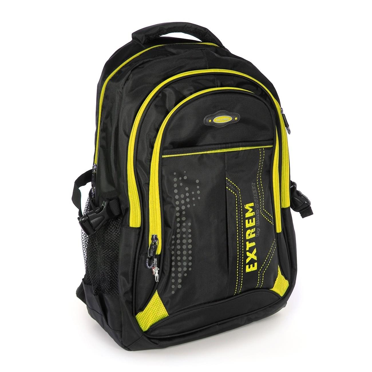 Rucksack Synthetik schwarz, gelb Laptopfach Laptoprucksack Bag Street OTJ605Y