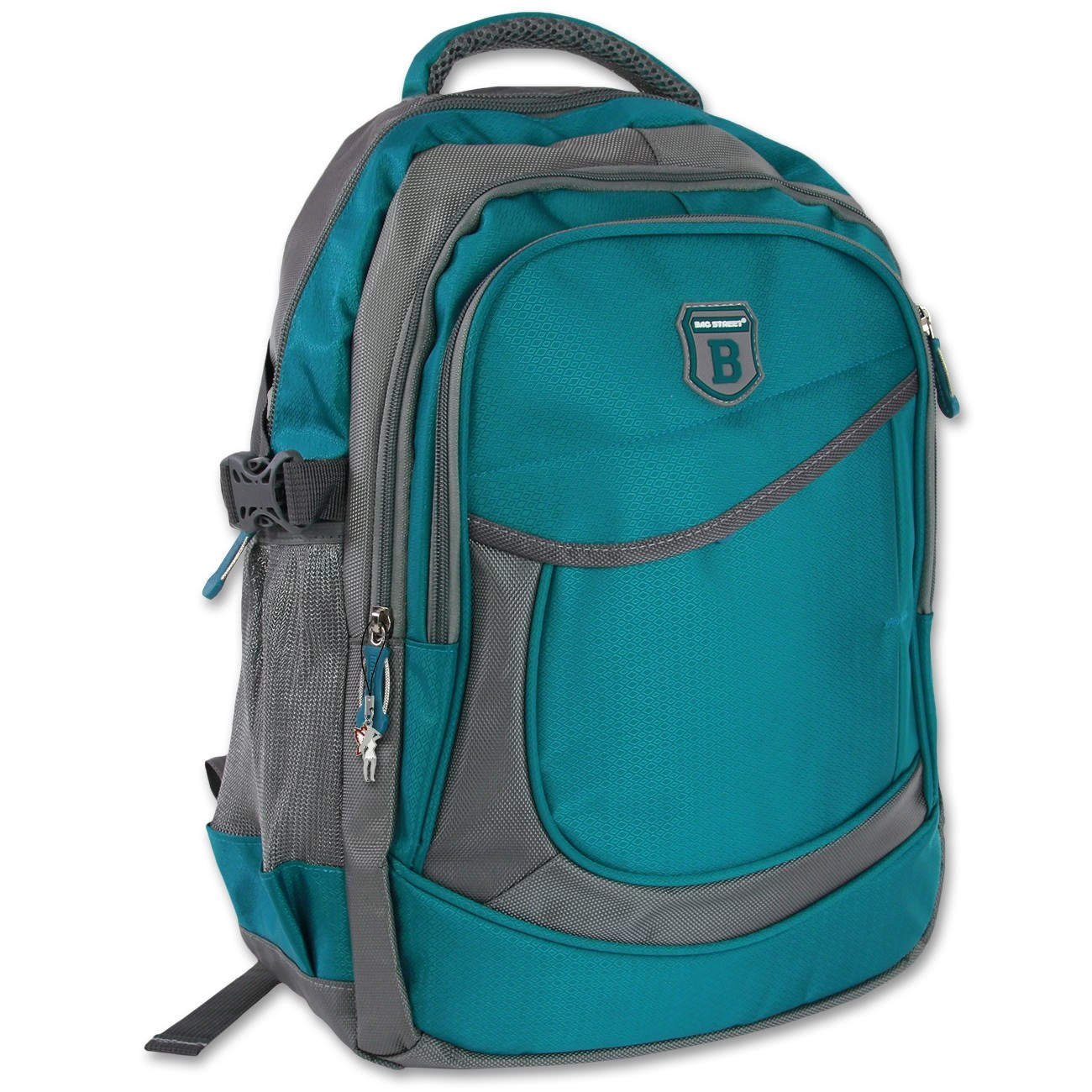 Rucksack Synthetik blau/grün Sportlicher Freizeitrucksack Bag Street OTJ612T