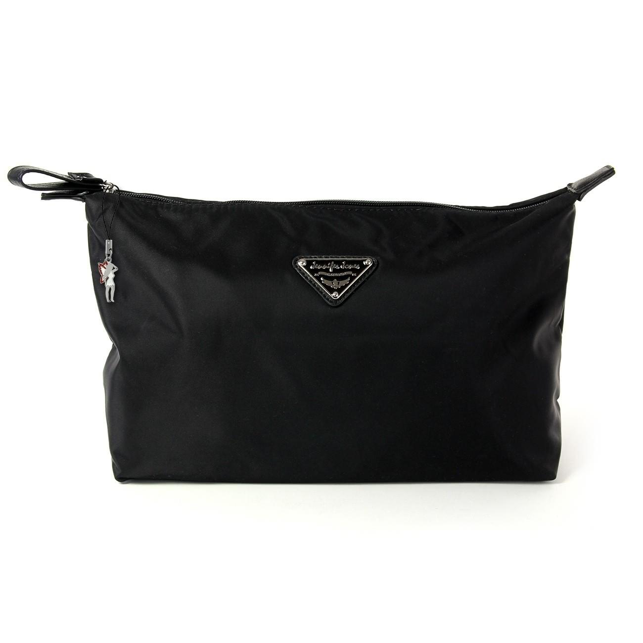 Kosmetiktasche Nylon schwarz Kulturtasche Waschtasche Jennifer Jones OTJ702S