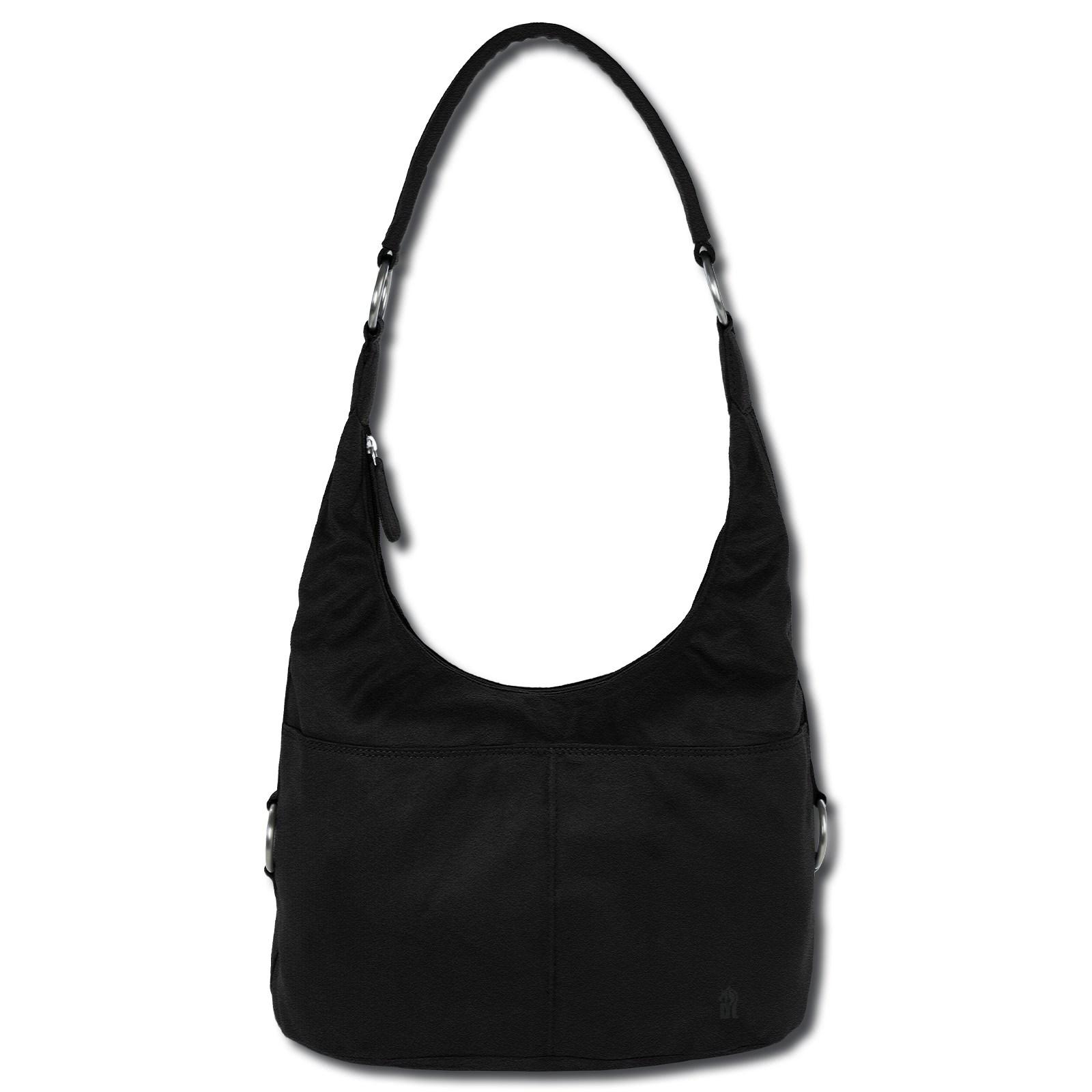 Beuteltasche Kunstleder schwarz Damen Hobo Bag Handtasche DrachenLeder OTS100S