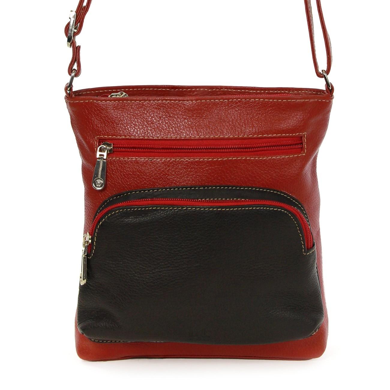 Schultertasche Handtasche Leder rot Damen Umhängetasche DrachenLeder OTZ100R