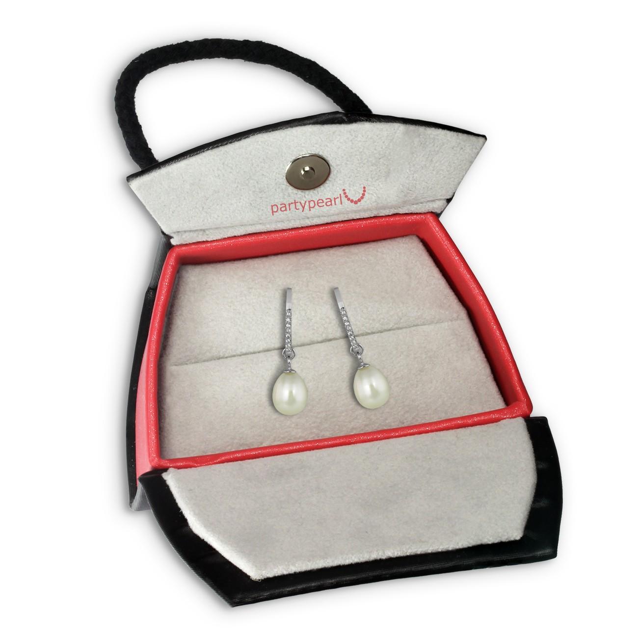PartyPearl Schmuck Set Perlenohrhänger mit Verpackung Damen 925 Silber PPO015W8