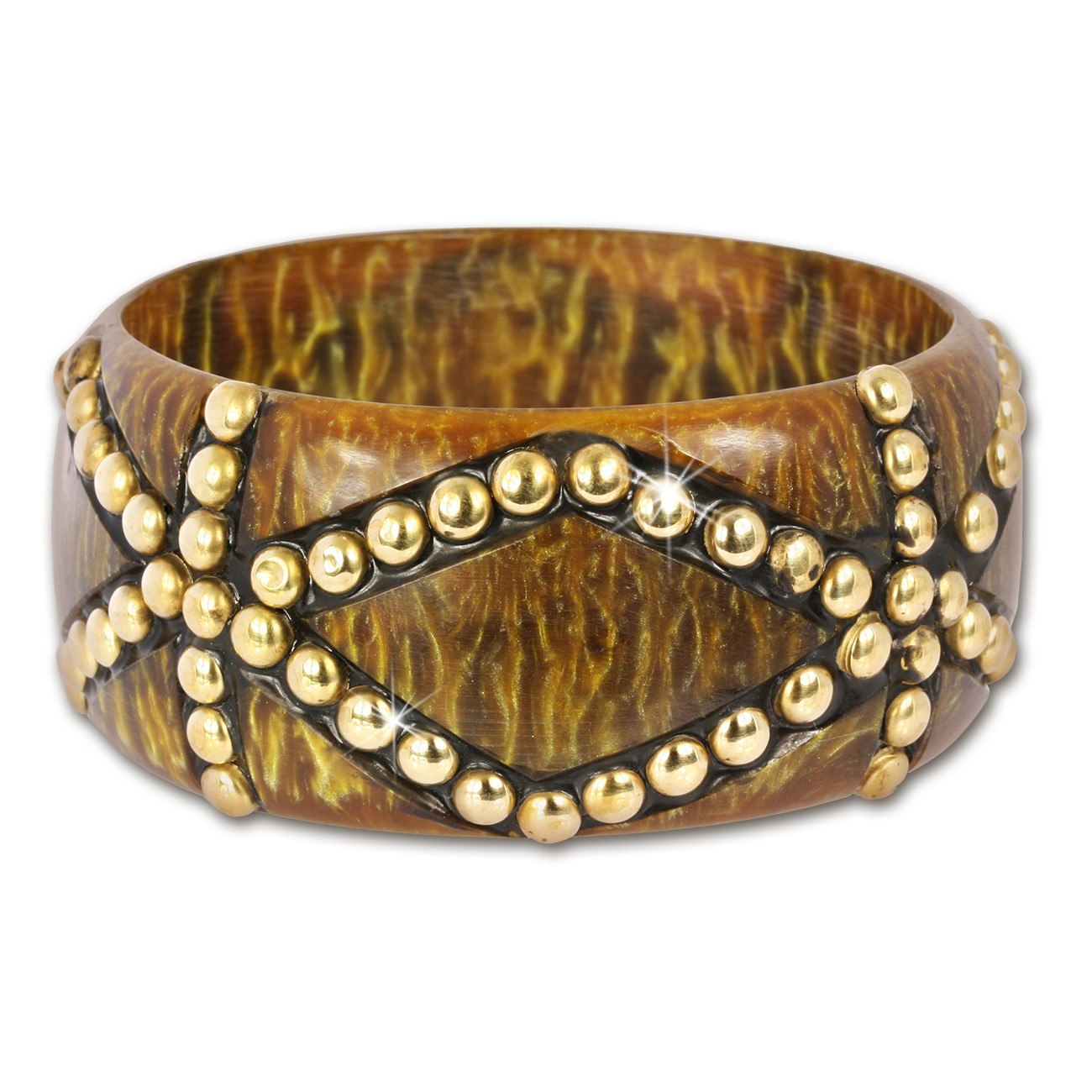 SilberDream Armreif Muster braun gold Damen Armreifen RAV228Y