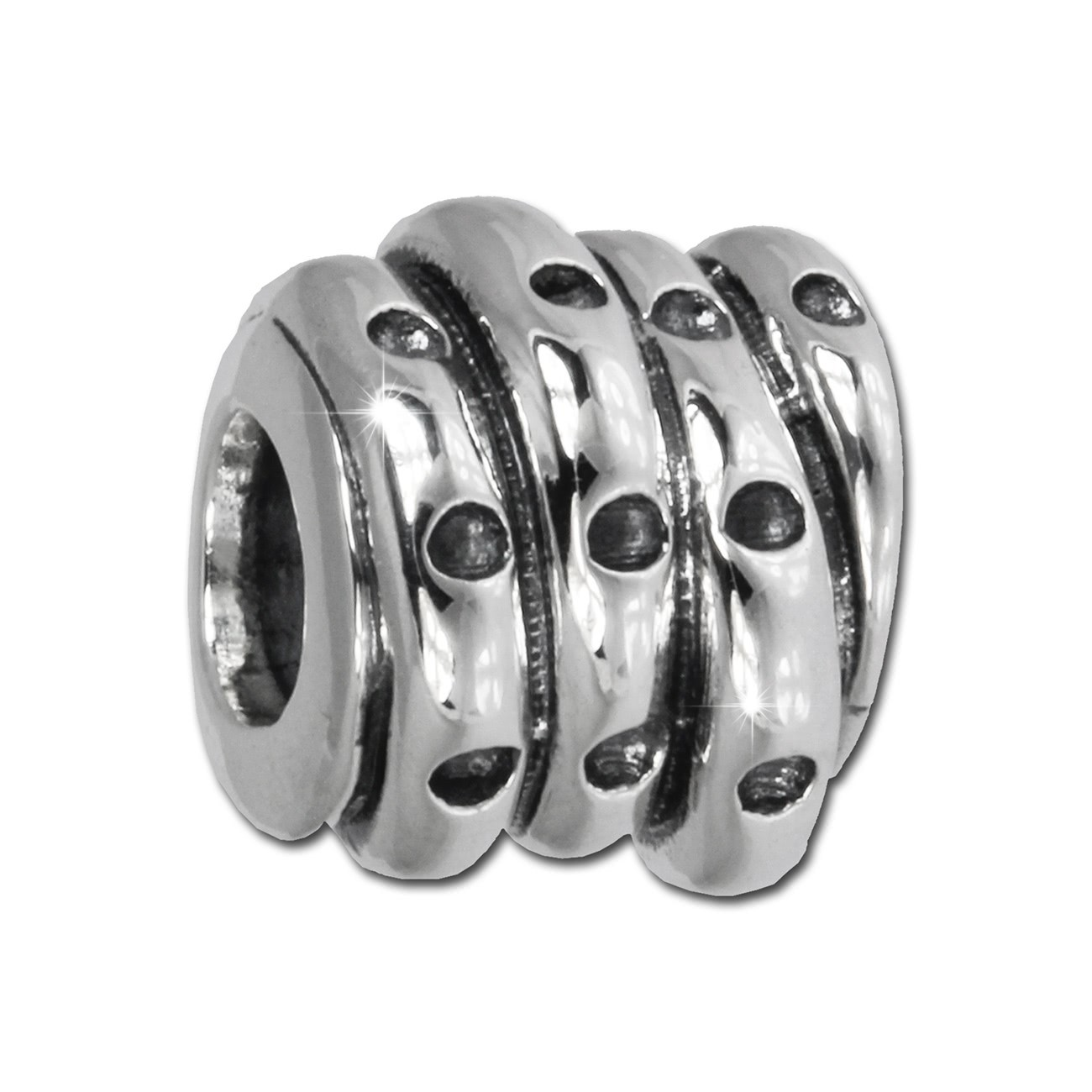 IMPPAC Bead Seil 925 Sterling Silber Armband Beads SBB205