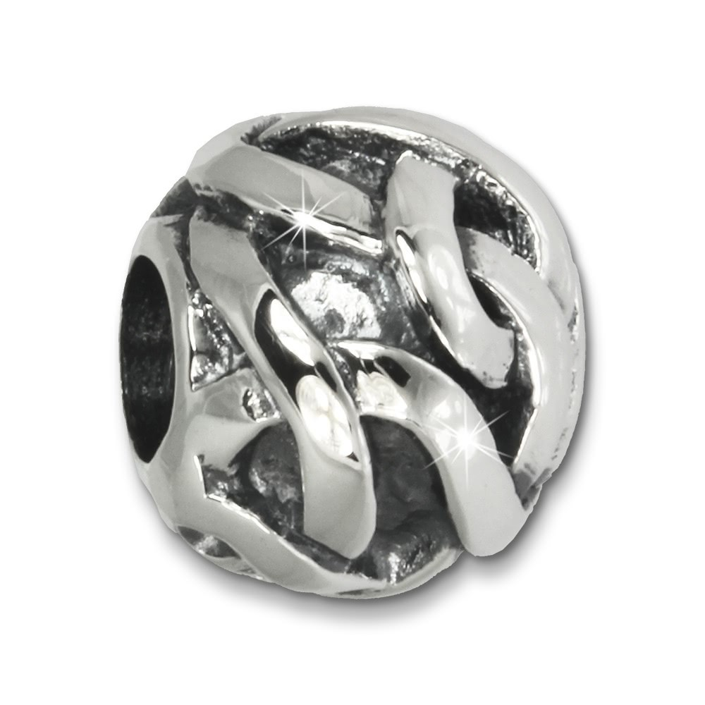 IMPPAC Bead Geflecht 925 Sterling Silber Armband Beads SBB227