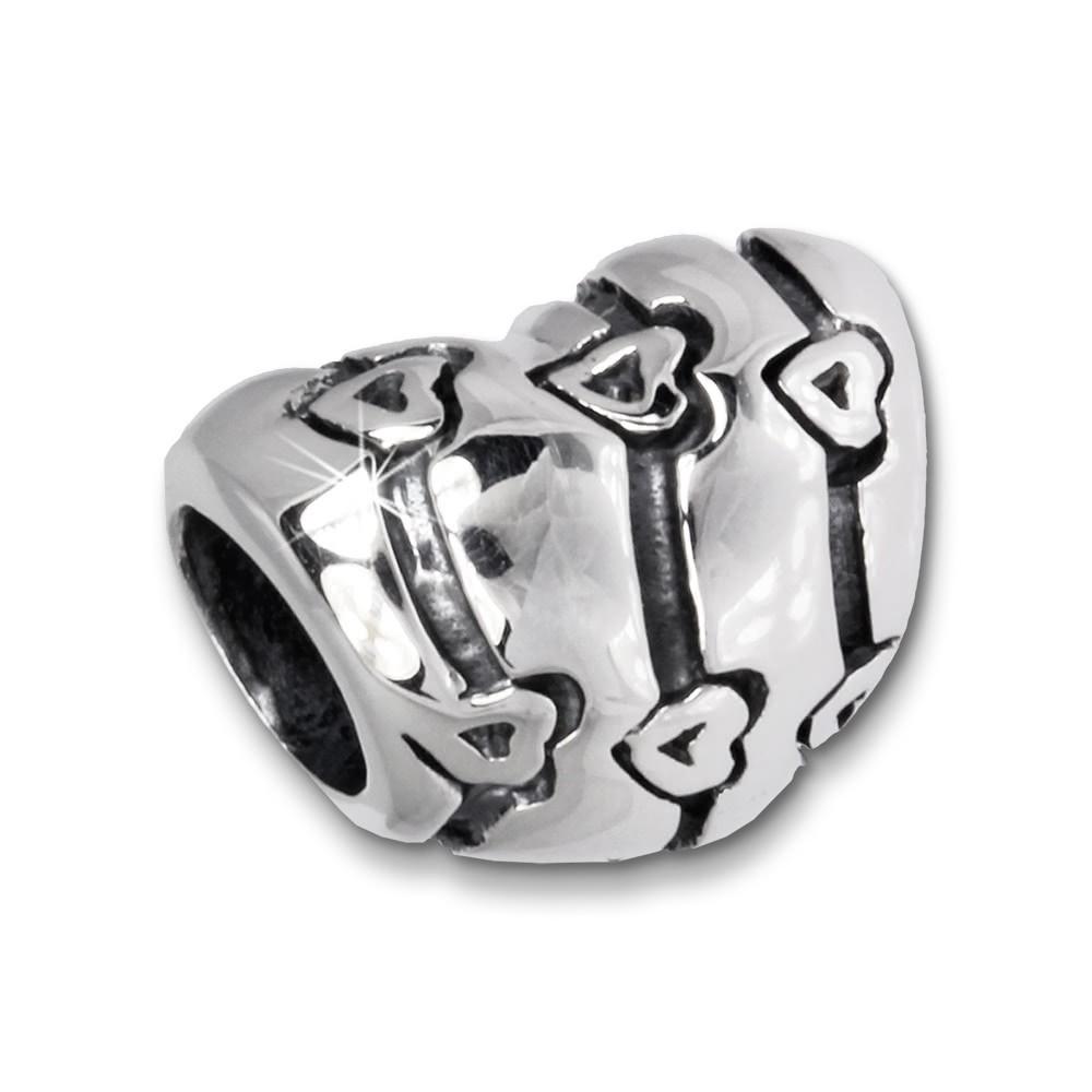 IMPPAC Bead Herz mit Herzen 925er Silber Armband Beads SBB229