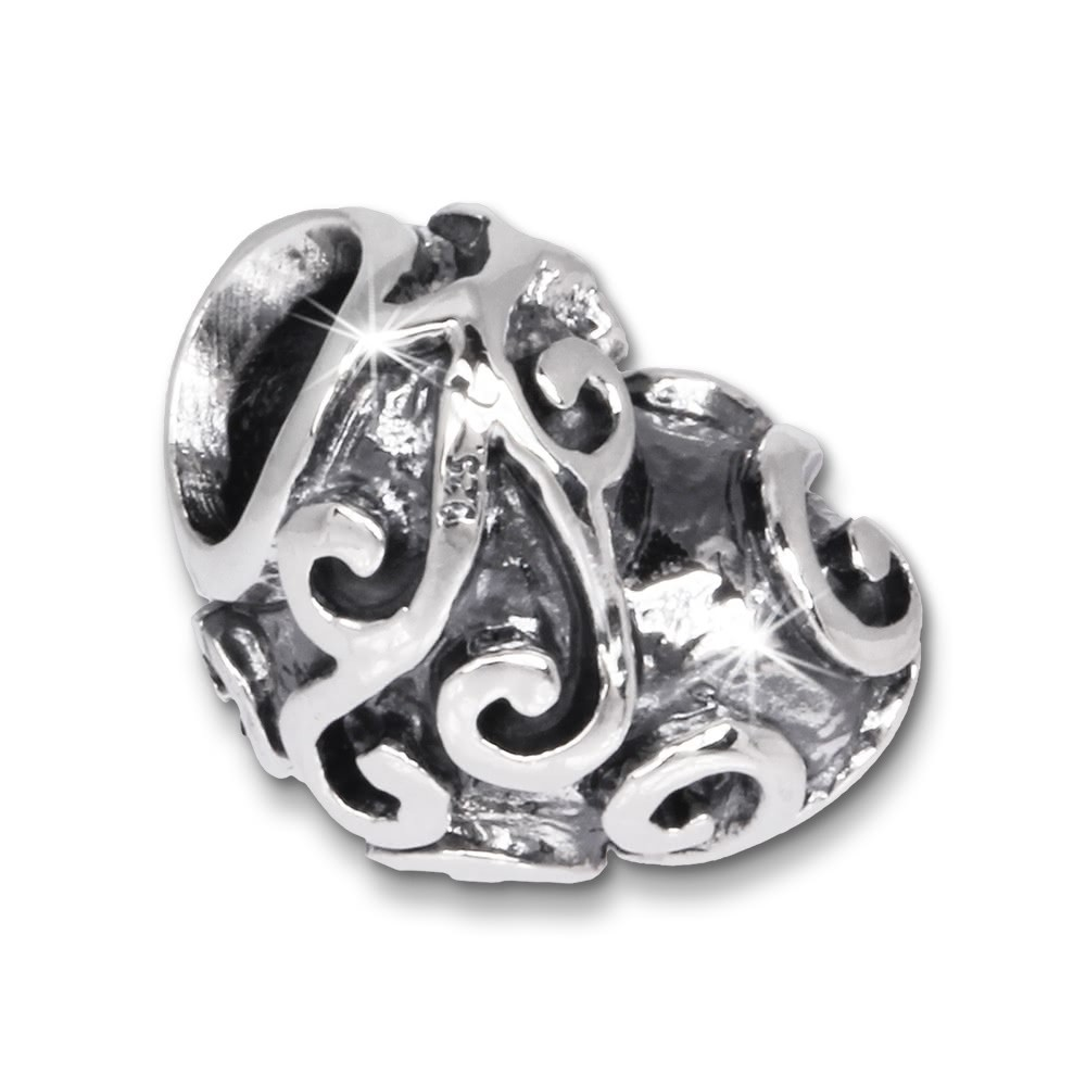 IMPPAC Bead Antikes Herz 925er Silber Armband Beads SBB283