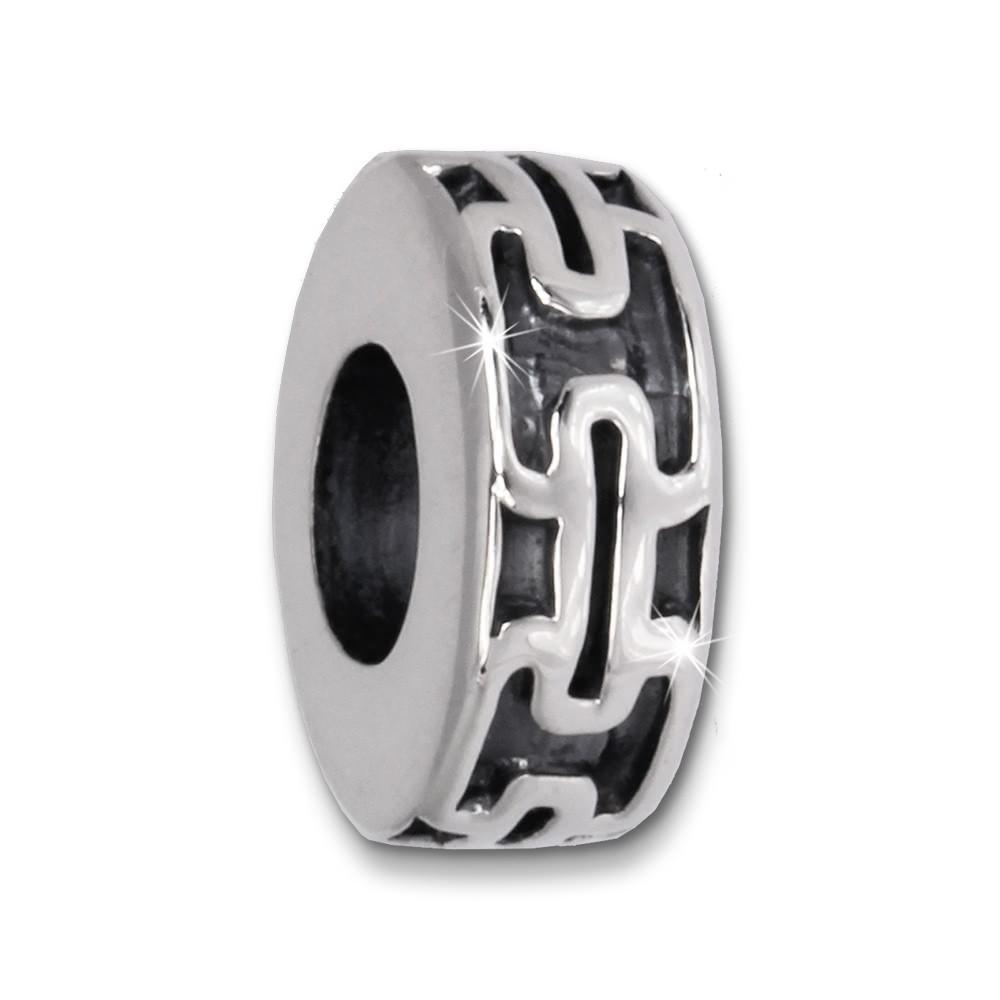 IMPPAC Bead Griechisch Dekor 925 Sterling Silber Armband Beads SBB407