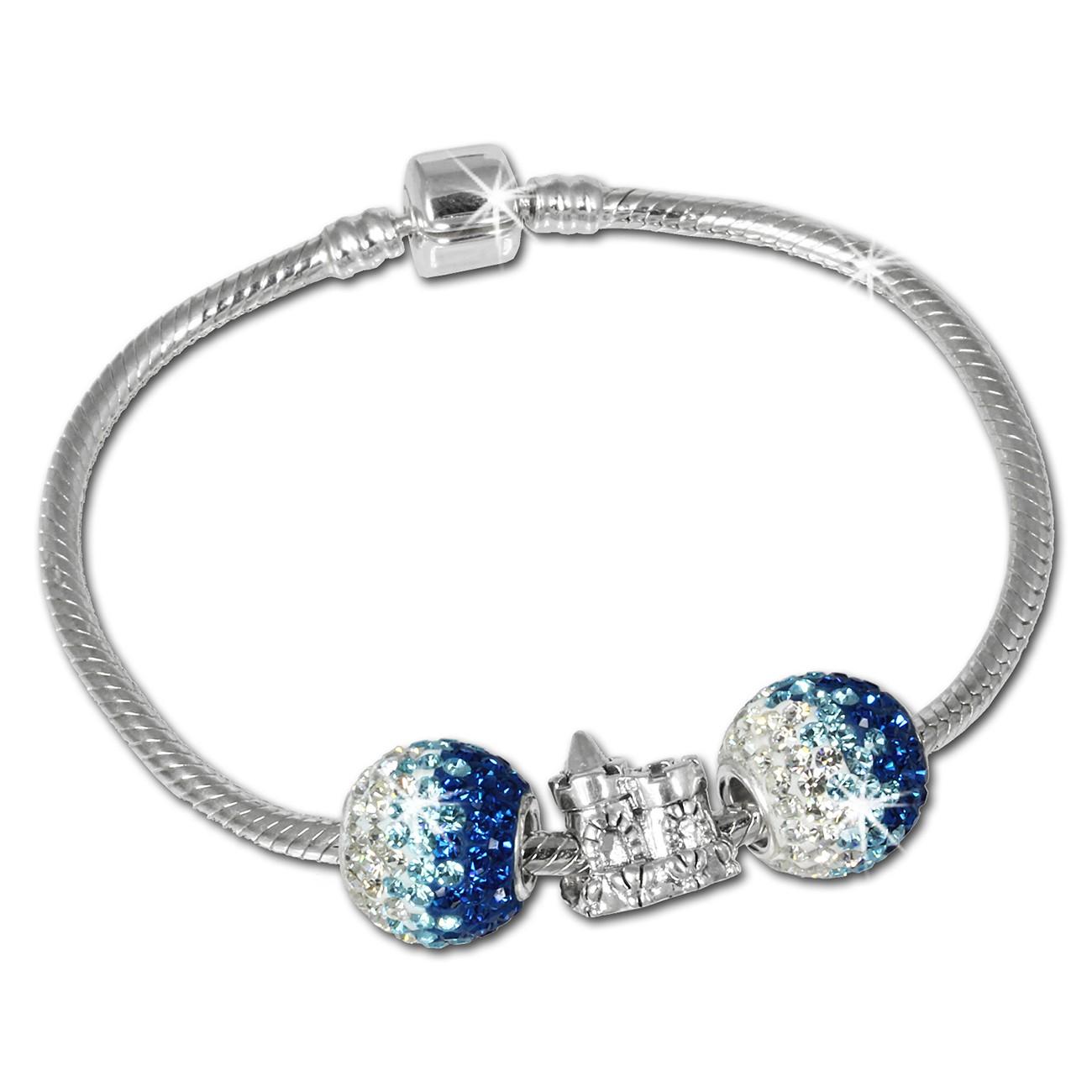 IMPPAC Komplett Armband + 3 Beads 925er Silber European Bead SBS005