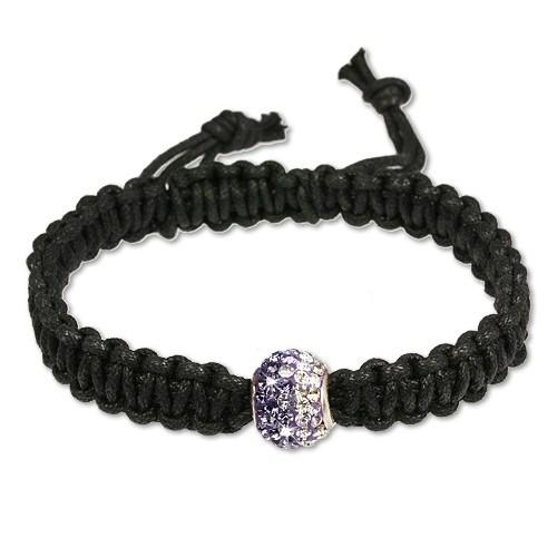 SilberDream Shamballa Armband Kugel violett Zirkonia 925 Silber SDA034V