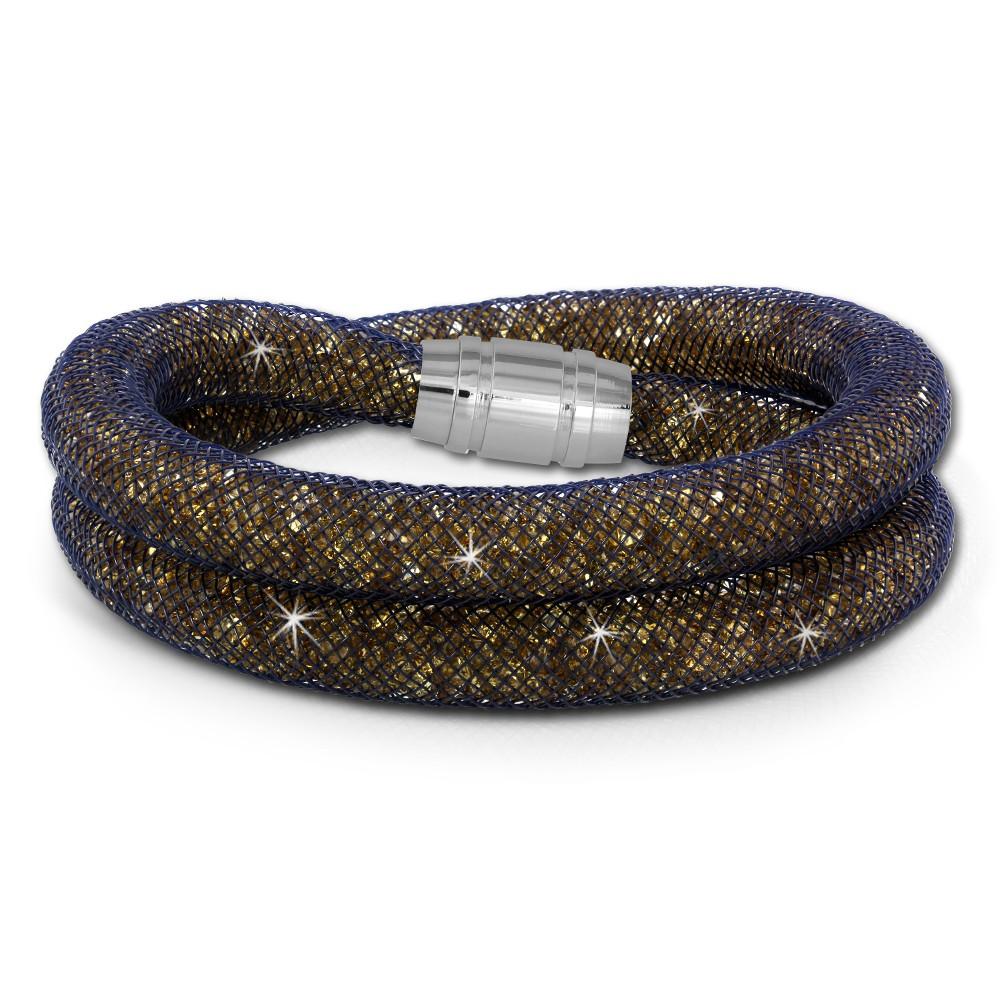 SilberDream Glitzerarmband Minikristalle goldfarbenen Doppelarmband SDA051N0