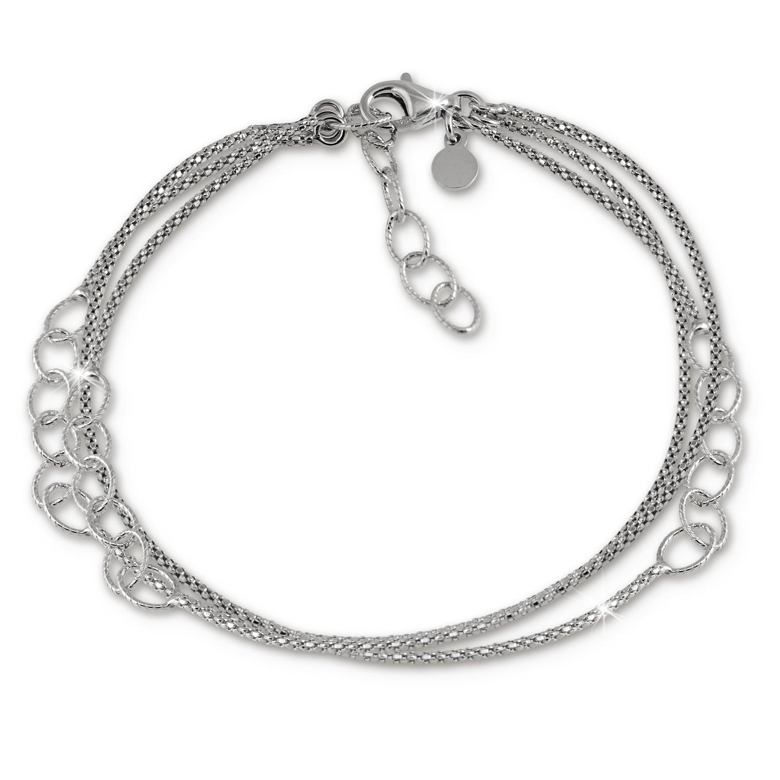 SilberDream Armband Ringe 925 Sterling Silber Damen 18cm - 21cm SDA1178J