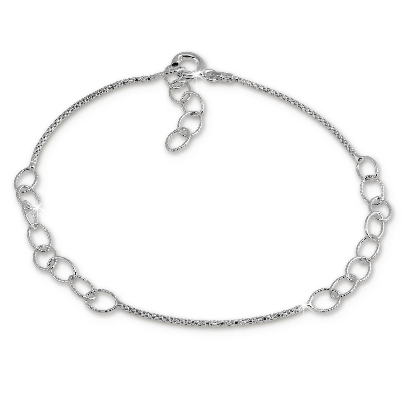 SilberDream Armband Ringe 925 Sterling Silber Damen 18cm - 21cm SDA1188J