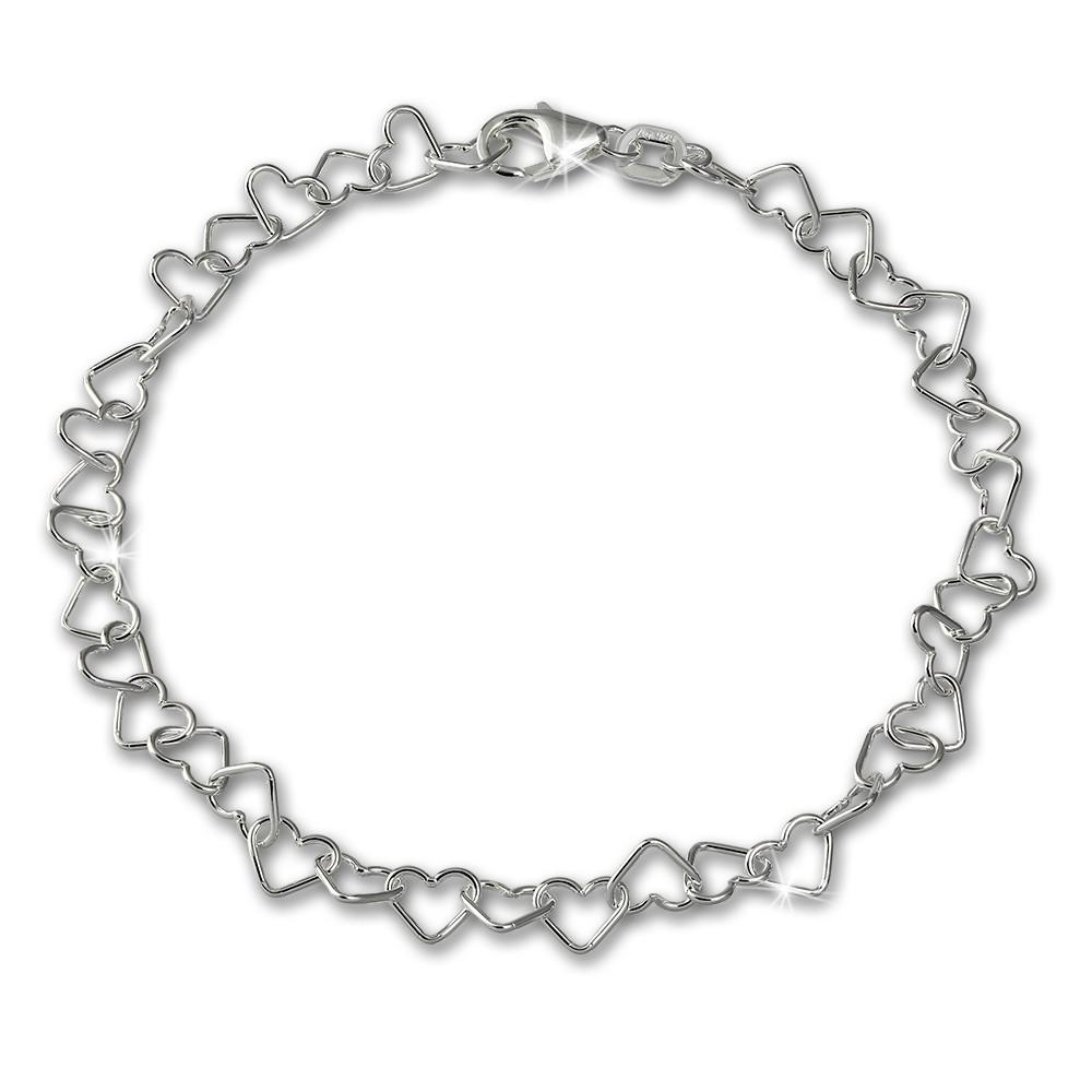 SilberDream Armband Herzchen 925 Sterling Silber Damen 18cm SDA2118J