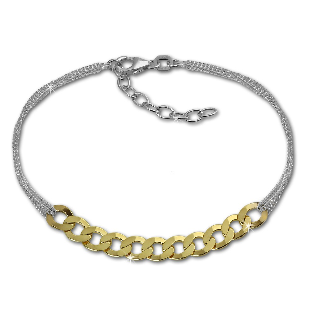 SilberDream Armband Fantasie vergoldet 925er Silber Damen 18cm SDA2138Y