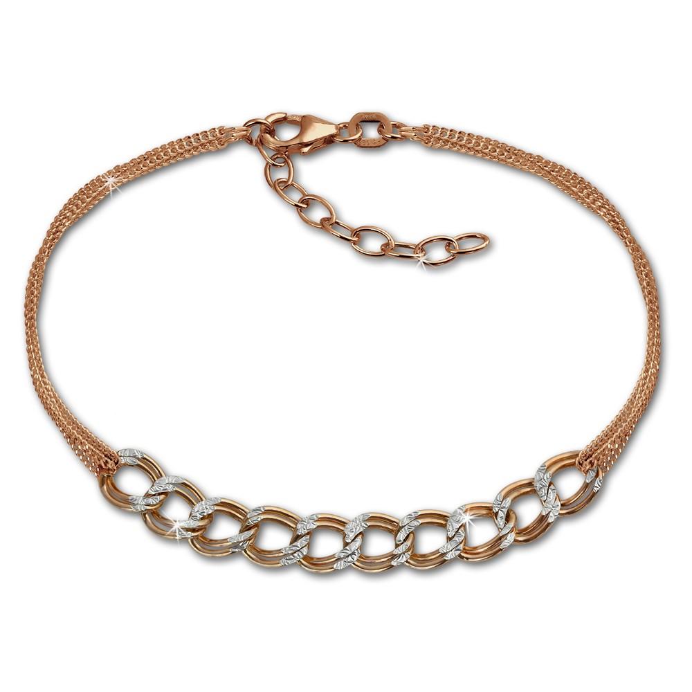 SilberDream Armband Fantasie Rose vergoldet 925er Silber Damen 18cm SDA2148E