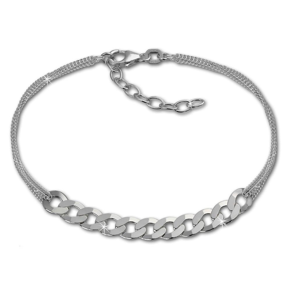 SilberDream Armband Fantasie 925er Sterling Silber Damen 18cm SDA2148J