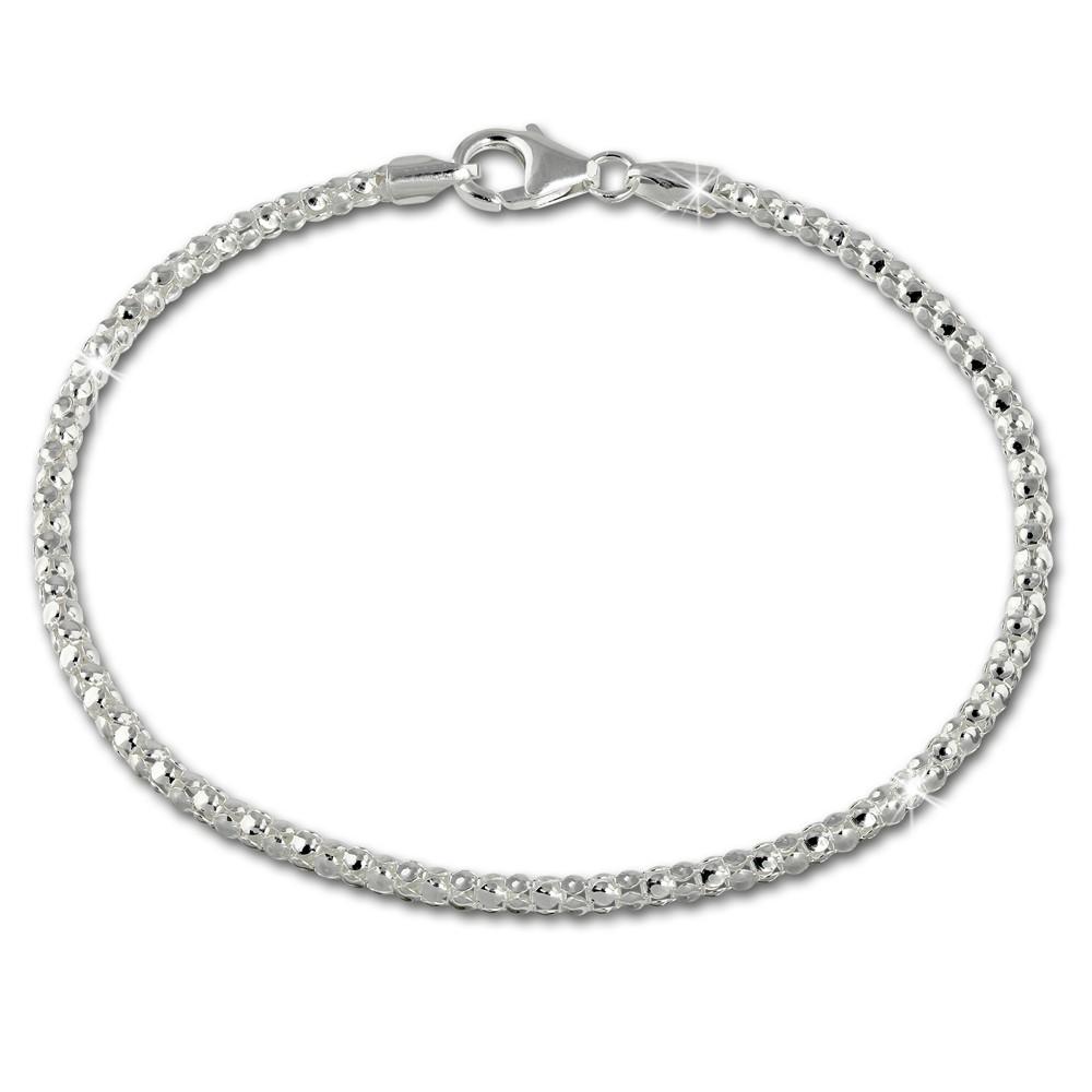SilberDream Armband Himbeerkette 925er Sterling Silber Damen 20cm SDA2170J