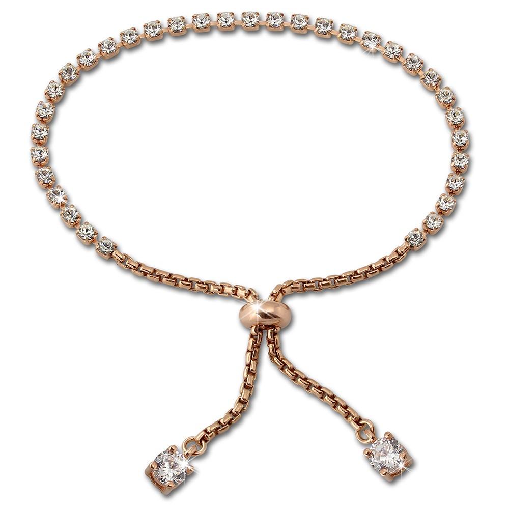 SilberDream Armband Anker Rose vergoldet Zirkonia 925er Silber Damen SDA2225E