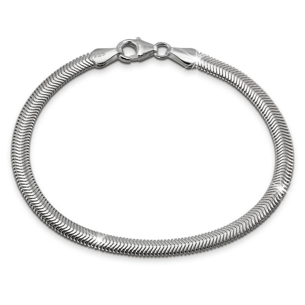 SilberDream Armband Schlangenkette 19cm oval 925 Silber Damen SDA2309J