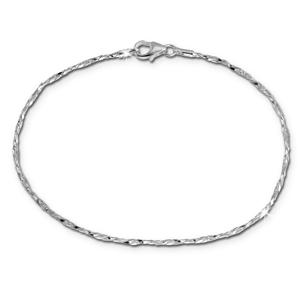SilberDream Armband Fantasie gedreht silber 925 Silber Damen SDA2409J