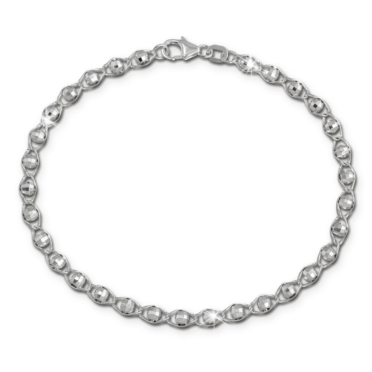 SilberDream Damen Armband Fantasie Kugeln 19cm 925 Sterling Silber SDA2539J