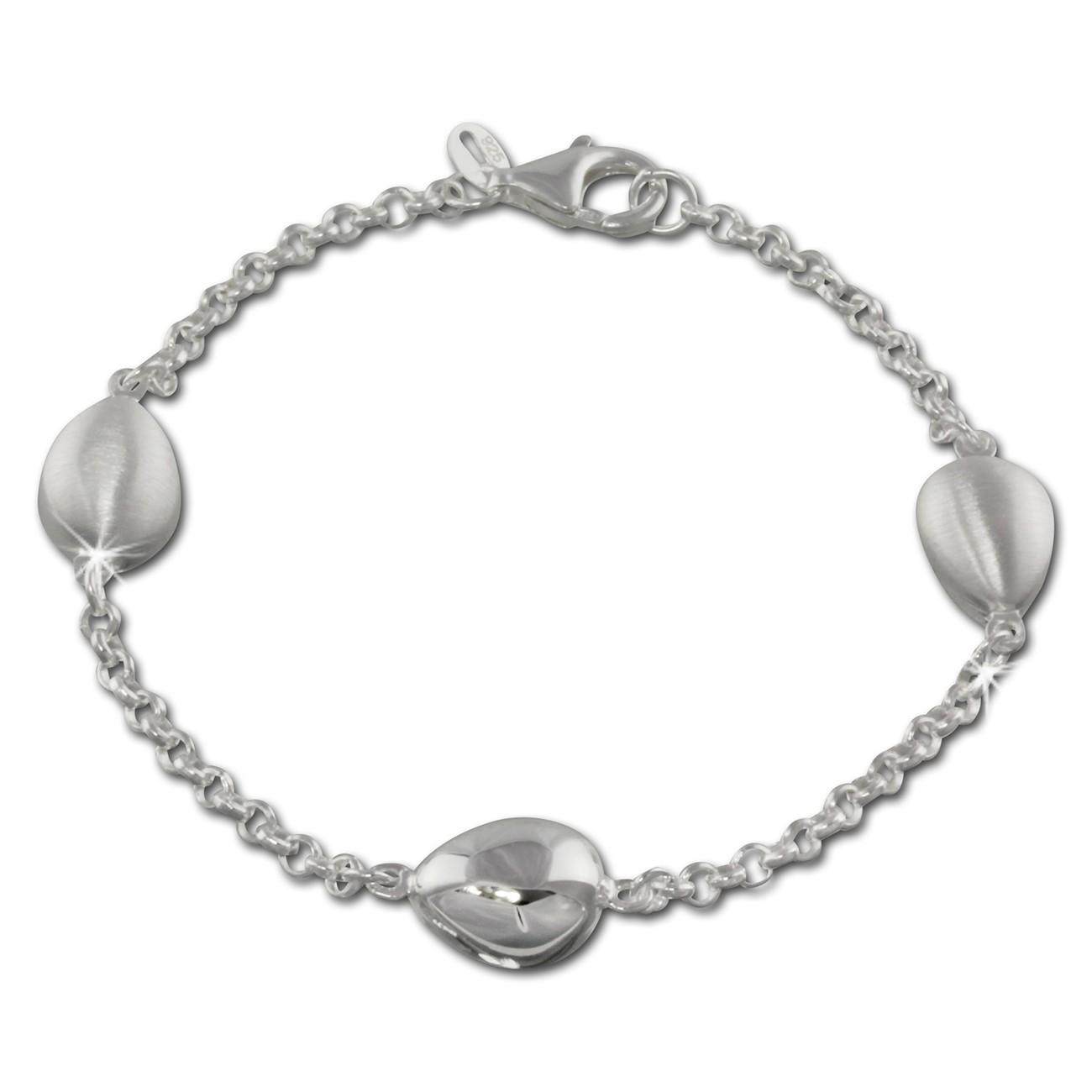 SilberDream Armband Tropfen 925 Sterling Silber 19cm Damen SDA416