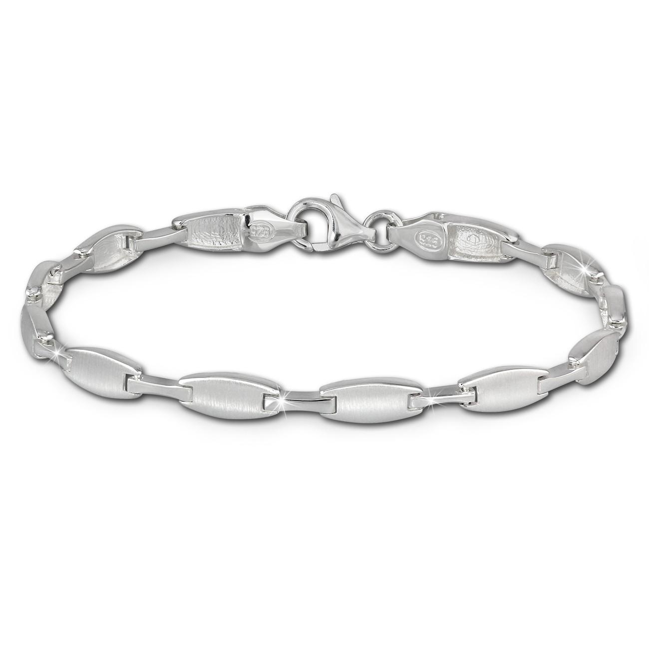 SilberDream Armband Style matt/glänzend 925 Sterling Silber 19cm SDA429