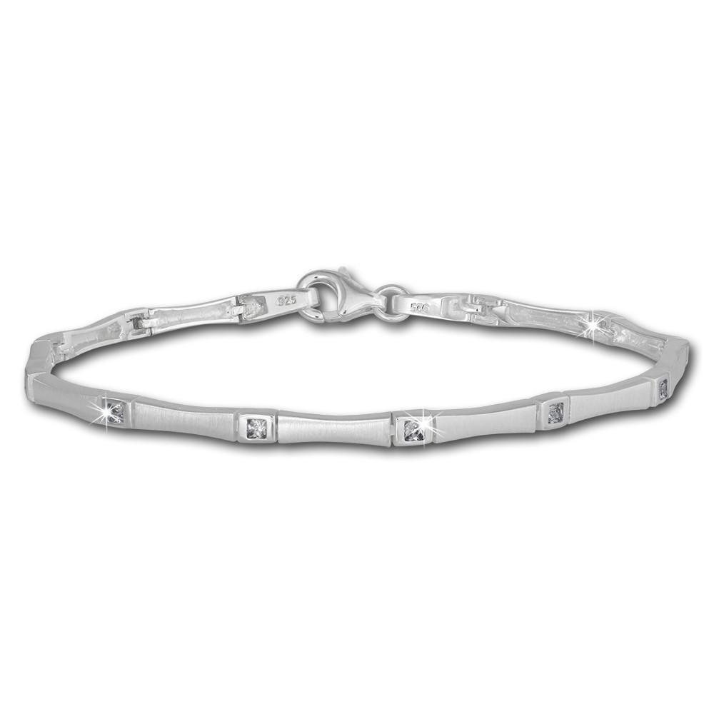SilberDream Armband Zirkonia weiß 925er Sterling Silber 19cm Damen SDA436W