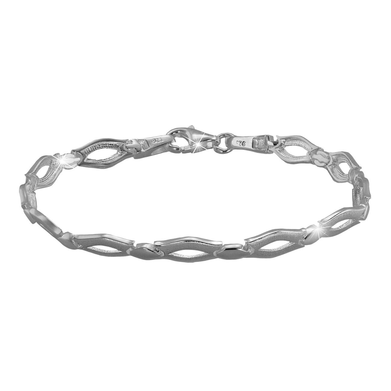 SilberDream Armband Outline matt/glänzend 925 Sterling Silber 19,3cm SDA456J